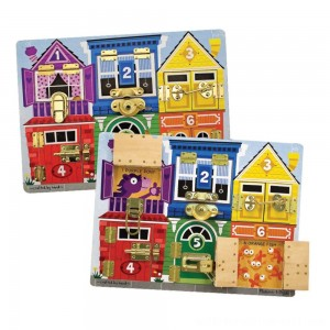 Melissa & Doug Latches Wooden Activity Board - Sale