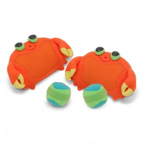 Melissa & Doug Sunny Patch Clicker Crab Toss and Grip Catching Game With 2 Balls - Sale