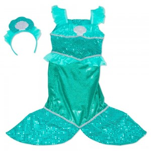 Melissa & Doug Mermaid Role Play Costume Set - Gown With Flaired Tail, Seashell Tiara, Women's - Sale