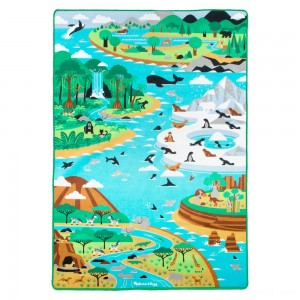 "Melissa & Doug Jumbo Habitats Activity Rug, 58 x 79"" - Sale"