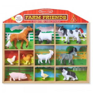 Melissa & Doug Farm Friends - 10 Collectible Farm Animals - Sale