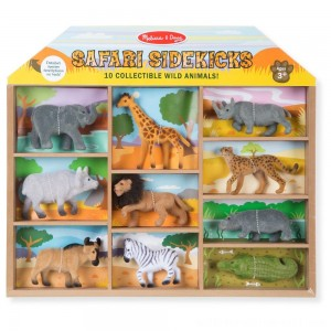 Melissa & Doug Safari Sidekicks - 10 Collectible Wild Animals - Sale