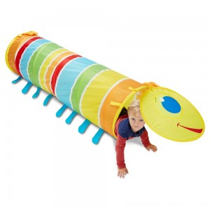 Melissa & Doug Sunny Patch Giddy Buggy Crawl-Through Tunnel (almost 5 feet long) - Sale