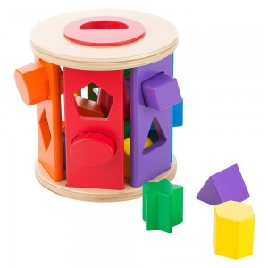 Melissa & Doug Match and Roll Shape Sorter - Classic Wooden Toy - Sale