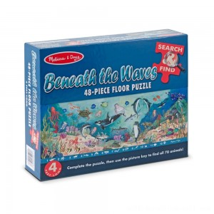 Melissa And Doug Search And Find Beneath The Waves Floor Puzzle 48pc - Sale