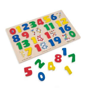 Melissa & Doug Numbers 0-20 Wooden Puzzle (21pc) 32pc - Sale