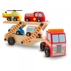 Melissa & Doug Wooden Emergency Vehicle Set of 6 - Sale