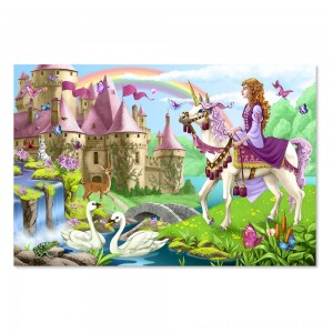 Melissa And Doug Fairy Tale Castle Jumbo Floor Puzzle 24pc - Sale