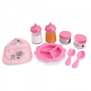 Melissa & Doug Mine to Love Time to Eat Doll 8 pc Accessories Feeding Set - Sale