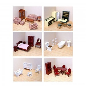 Melissa & Doug Classic Victorian Wooden and Upholstered Dollhouse Furniture (35pc) - Sale