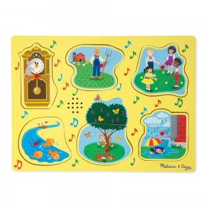 Melissa & Doug Nursery Rhymes 1 - Sound Puzzle 6pc - Sale