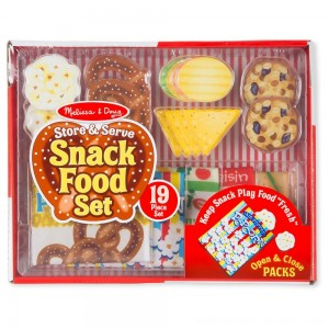 Melissa & Doug Store & Serve Snack Food Set - Sale