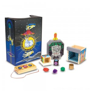 Melissa & Doug Discovery Magic Set With 4 Classic Tricks, Solid-Wood Construction - Sale