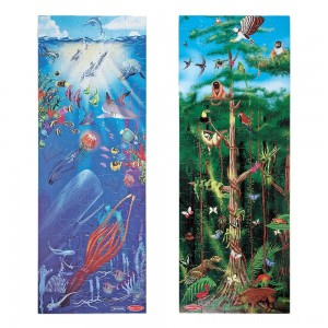 Melissa & Doug Under the Sea and Rainforest Cardboard Floor Puzzle Set 2pc, Kids Unisex - Sale