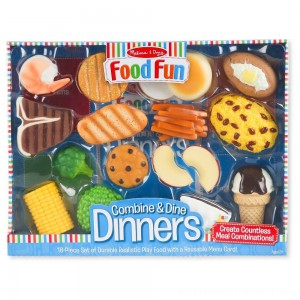 Melissa & Doug Food Fun Combine & Dine Dinners - Blue - Sale