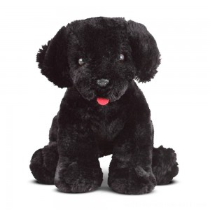 Melissa & Doug Benson Black Lab - Stuffed Animal Puppy Dog - Sale