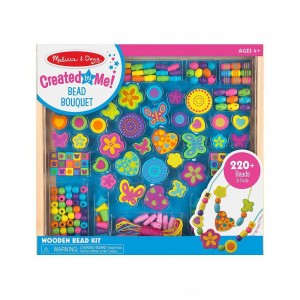 Melissa & Doug Bead Bouquet Deluxe Wooden Bead Set With 220+ Beads for Jewelry-Making - Sale